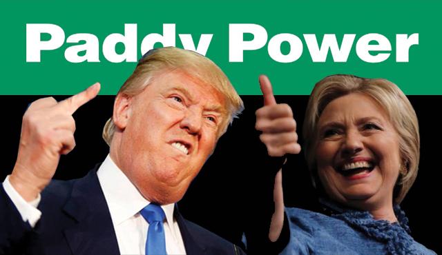 Paddy Power бе взела решението да изплати предварително залозите за победа на Хилъри Клинтън