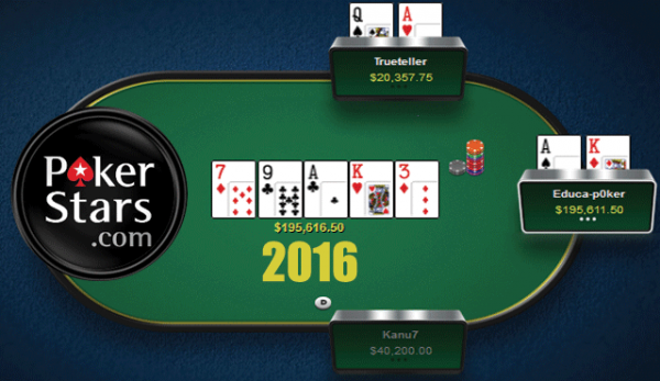 PokerStars през 2016 г.