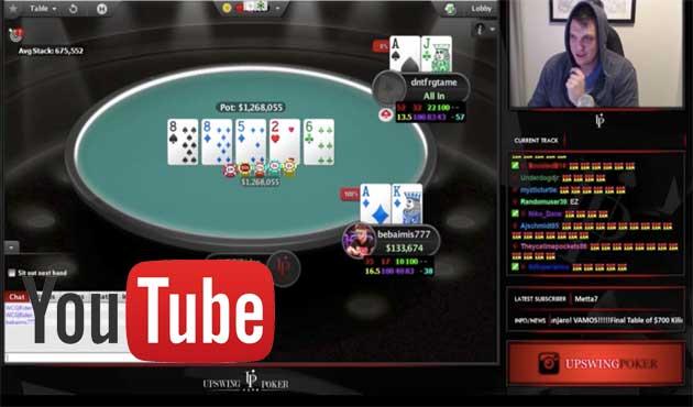 Покер про спечели $270К по време на YouTube стрийм
