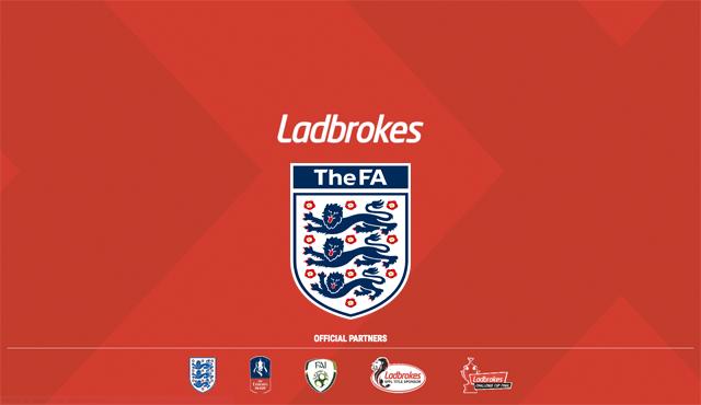 Футболната асоциация на Англия в партньорство с Ladbbrokes