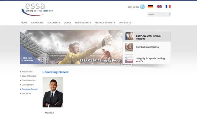 ESSA, международната организация за запазване на честността в спорта