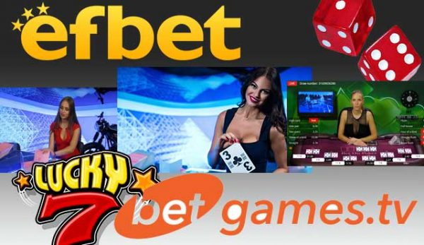 Efbet предлага игри на BetGames TV, Bet on Poker, Bet on Baccarat, Dice, Dice Duel, Lucky5, Lucky6, Lucky7, War of Bets и Wheel of Fortune.