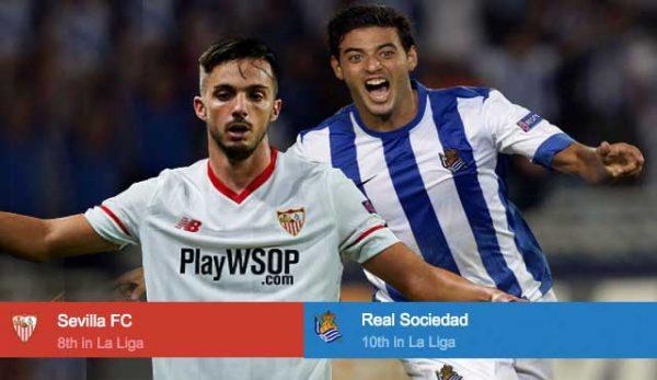 залози за играта Севиля срещу Реал Сосиедад
