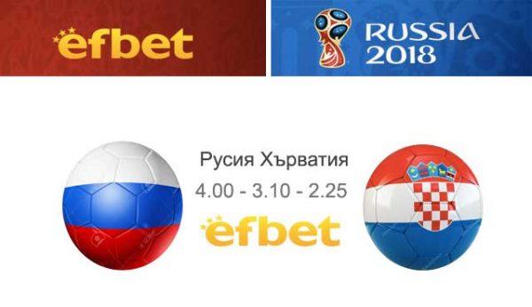 Световната купа Русия Хърватия 2018: елиминации, ключови играчи, прогнози, коефициенти efbet
