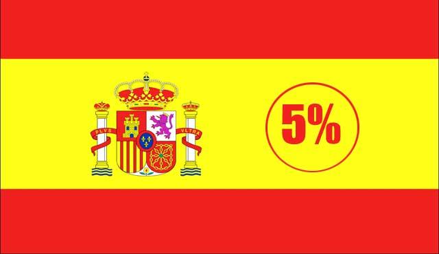 испания 5% данък на хазарта