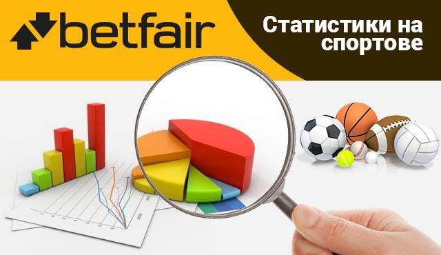 Betfair статистики за футбол и други спортове отблизо