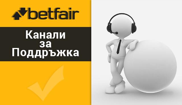 Betfair канали за поддръжка на клиенти