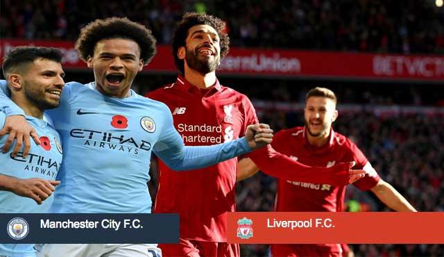Английската висша лига - Манчестър Сити и Ливърпул.
