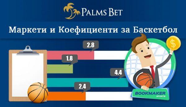 Маркети и коефициенти за Баскетбол в PalmsBet