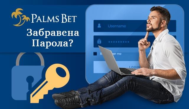 Възстановяване на парола в PalmsBet
