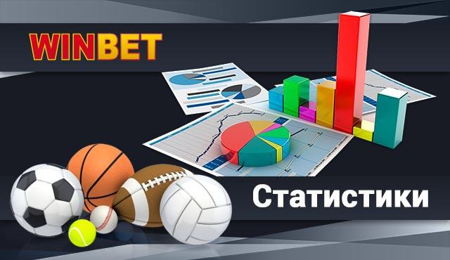 Winbet Статистики за футбол и други спортове