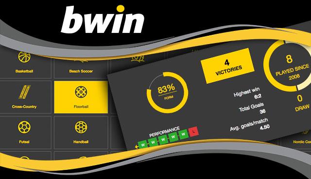 Спортни статистики за над 30 вида спорт в Bwin
