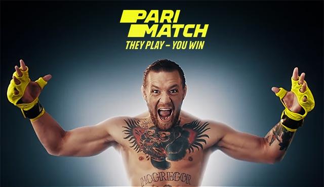 Реклама на Parimatch с Конър Макгрегър