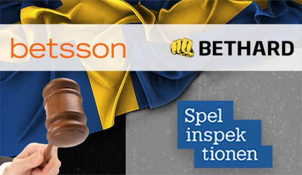 Шведския регулатор потвърди глобите за Betsson и Bethard