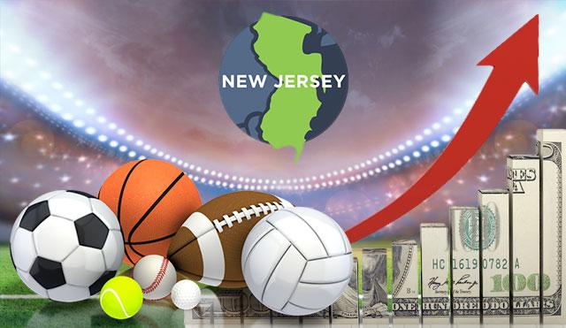 Ръст на спортните залози в Ню Джърси